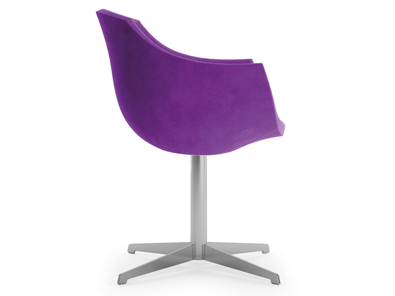 Fabric easy chair with 4-spoke base with armrests COLIMBAS | Easy chair with 4-spoke base by Cizeta