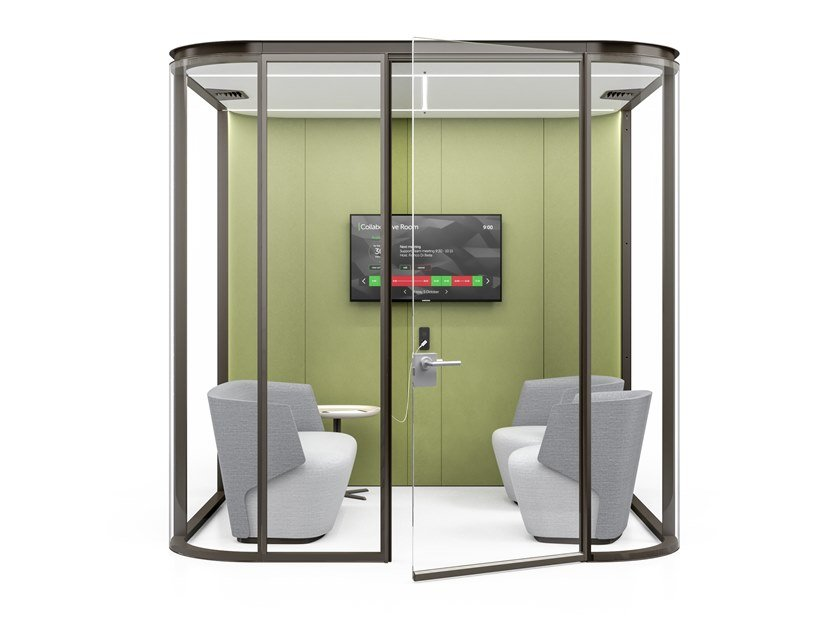 Acoustic fabric office booth COLLABORATIVE ROOM M by ESTEL GROUP