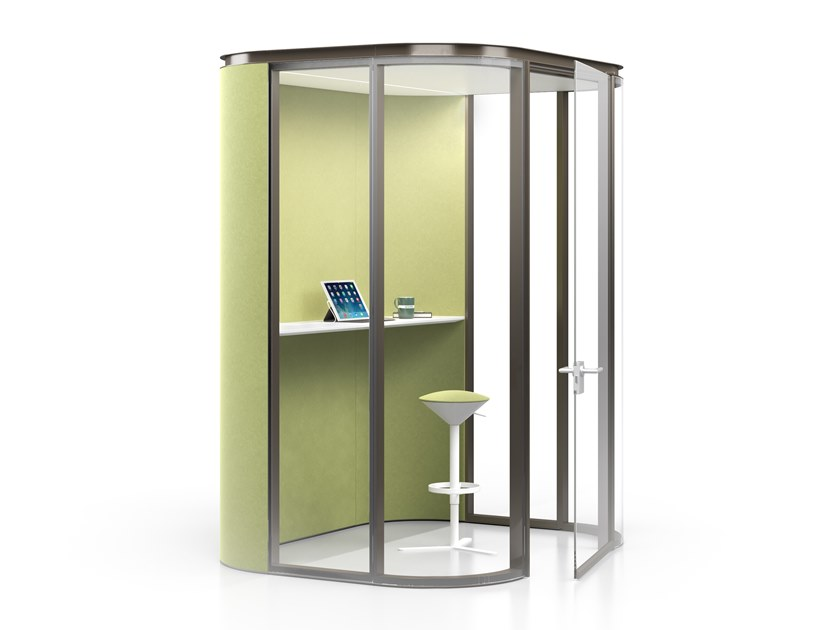 Acoustic fabric office booth COLLABORATIVE ROOM XS by ESTEL GROUP