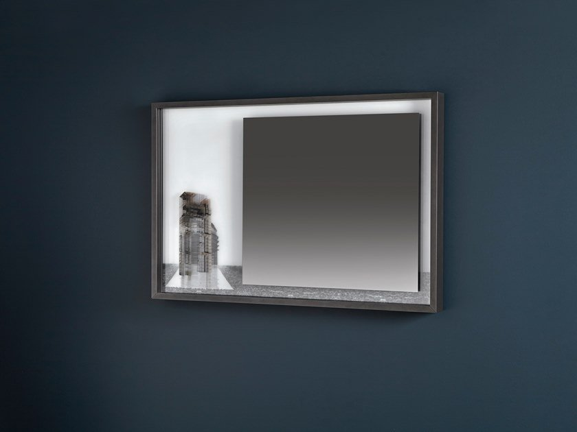 Wall-mounted framed mirror COLLAGE | Rectangular mirror by Antonio Lupi Design