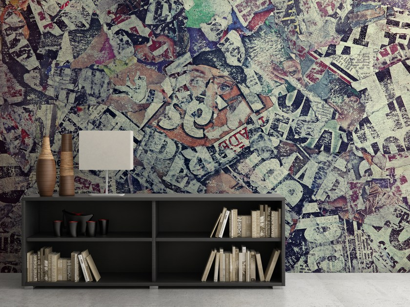 Adhesive washable wallpaper COLLAGE by Wall LCA