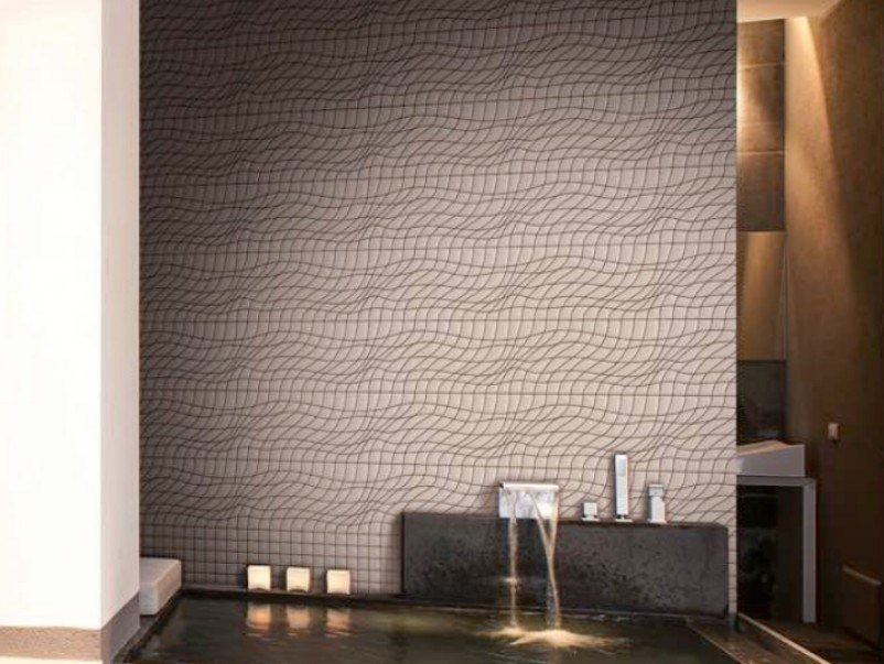 Indoor/outdoor polyurethane mosaic COLLAPSED WAVE by MyMosaic