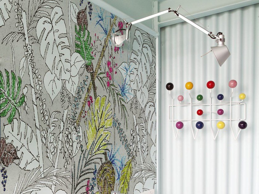 Wallpaper with floral pattern COLOR CHAIN by Wall&decò