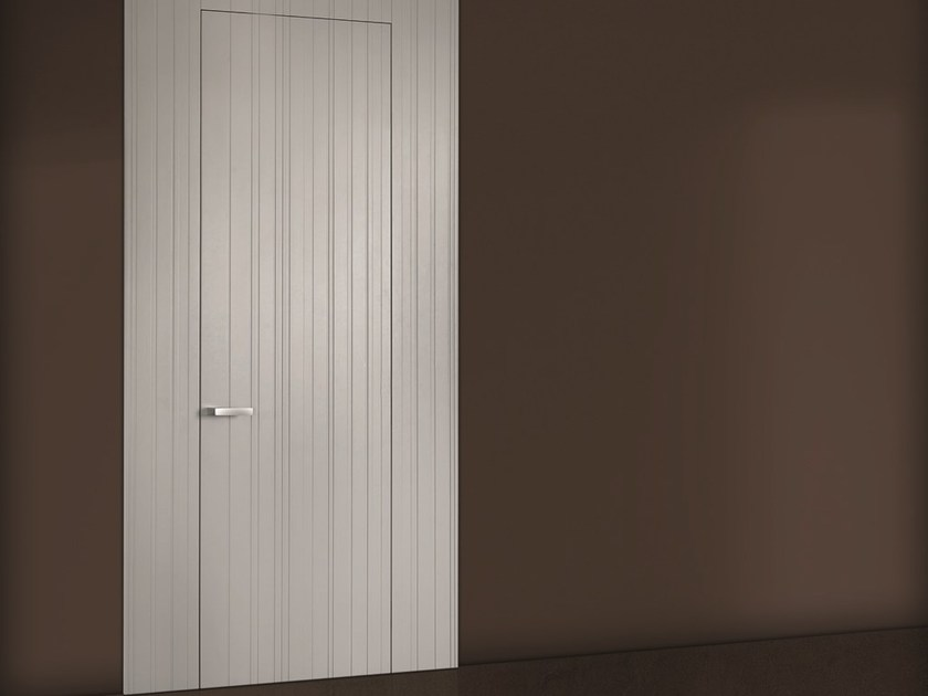 Flush-fitting lacquered wooden door COLOR by BARAUSSE