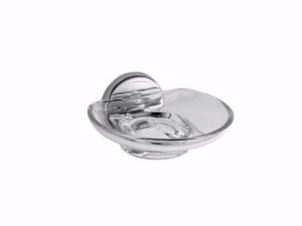 Wall-mounted glass soap dish COLORELLA | Glass soap dish by INDA®