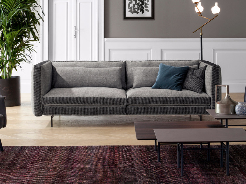 Contemporary Style 3 Seater Sectional Upholstered Fabric Sofa Colors By Bonaldo