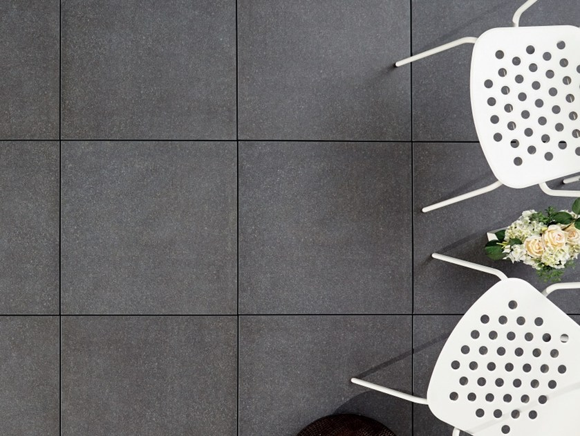 Outdoor Floor Tiles With Stone Effect Colosseo Basalt Grau Colosseo