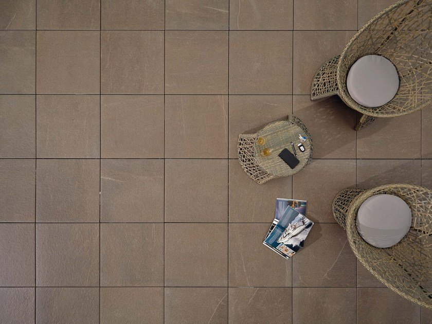 Outdoor floor tiles with stone effect COLOSSEO PORPHYRBRAUN by GRANULATI ZANDOBBIO