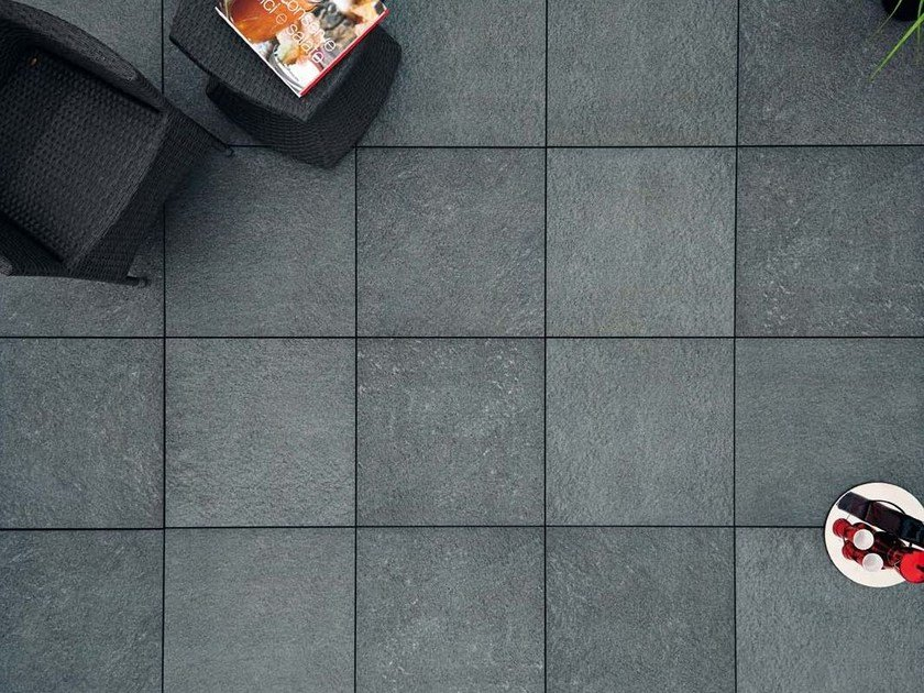 Outdoor floor tiles with stone effect COLOSSEO QUARZITE SVEDESE by GRANULATI ZANDOBBIO