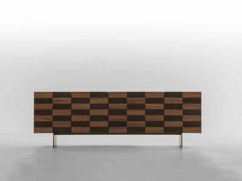 Wood veneer sideboard COLOSSEO by Tonin Casa