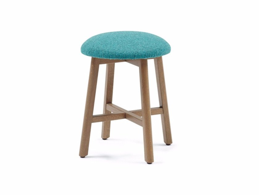 Low upholstered fabric stool COM CHAIR 03 K47 by Z-Editions
