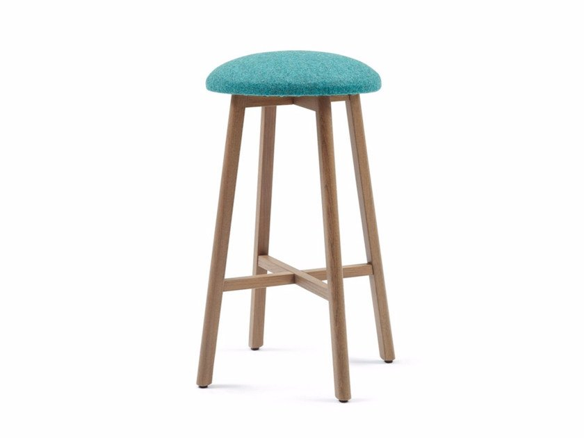 High upholstered fabric stool COM CHAIR 03 K71 by Z-Editions