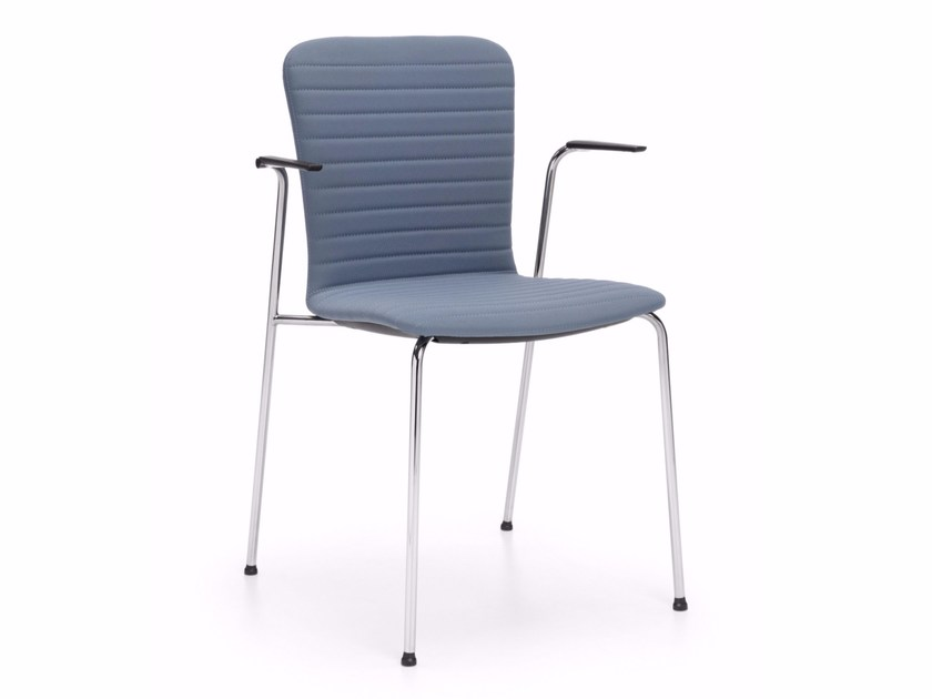Fabric training chair with armrests COM K43H by profim