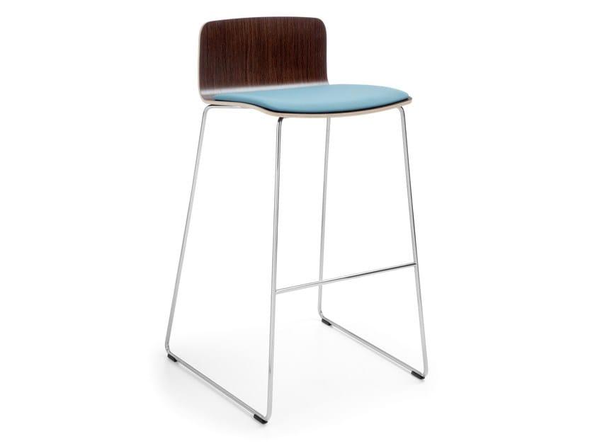 High sled base stool with footrest COM K22CV by profim
