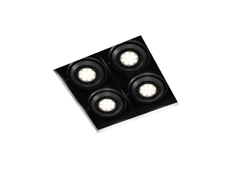LED multiple square aluminium spotlight COMA E by FLASH DQ
