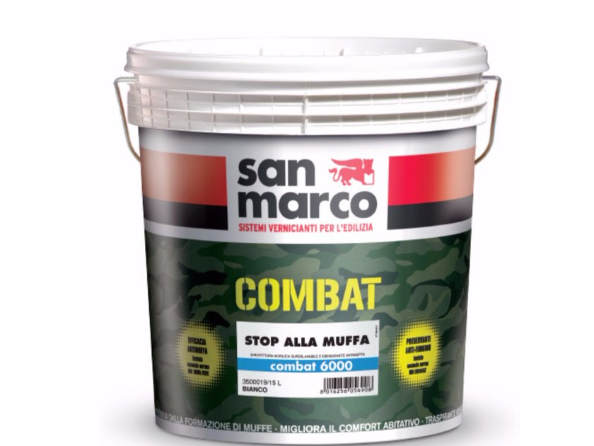 Washable water-based paint COMBAT 6000 by San Marco