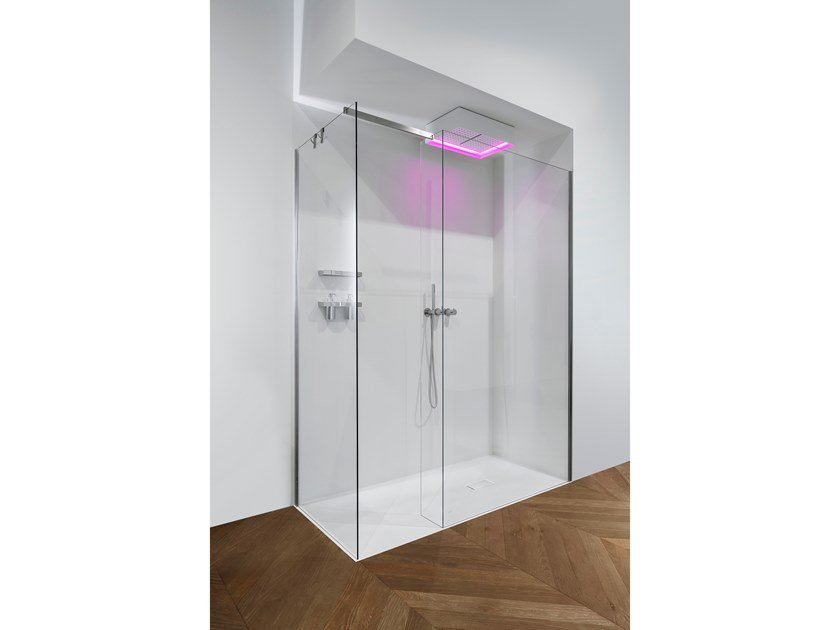 Corner tempered glass shower cabin COMBI | Corner shower cabin by Antonio Lupi Design