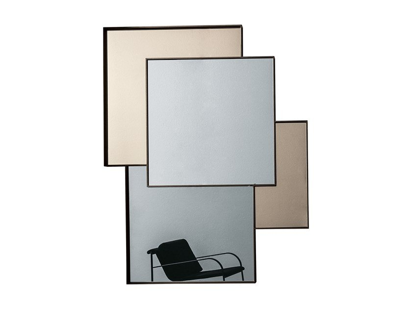 Wall-mounted mirror COMBI by Sovet italia
