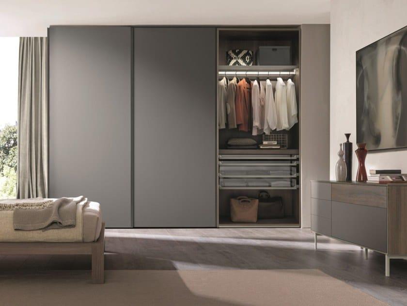 Ceramic Slate Wardrobe With Sliding Doors Combi System Z739 By Zalf