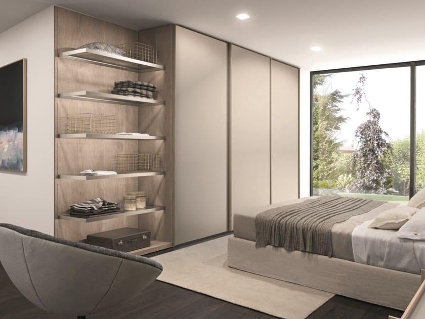 Oak Wardrobe With Sliding Doors Combi System Z756 By Zalf