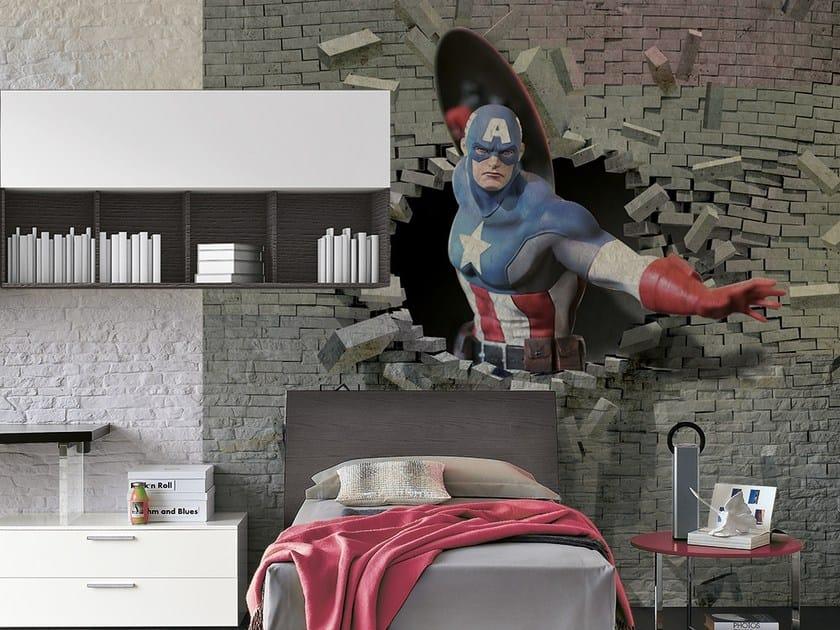 Vinyl wallpaper COMICS 3D by Adriani e Rossi edizioni