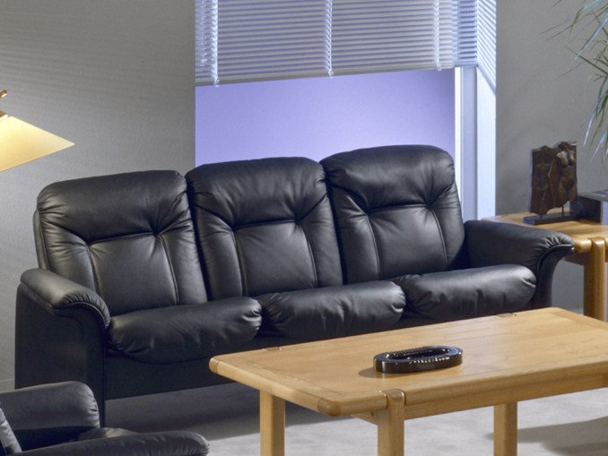 3 seater leather sofa COMMODORE | 3 seater sofa by Dyrlund