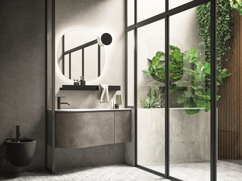 Mobile lavabo laccato sospeso VERSA COMP. 3 by Birex