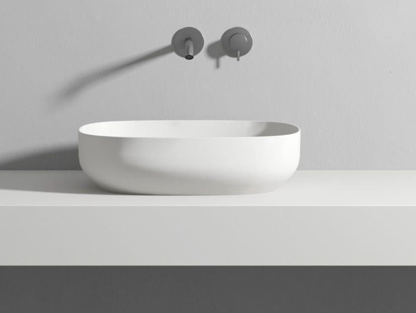 Lavabo in Korakril Blend in appoggio CONCA by Rexa Design