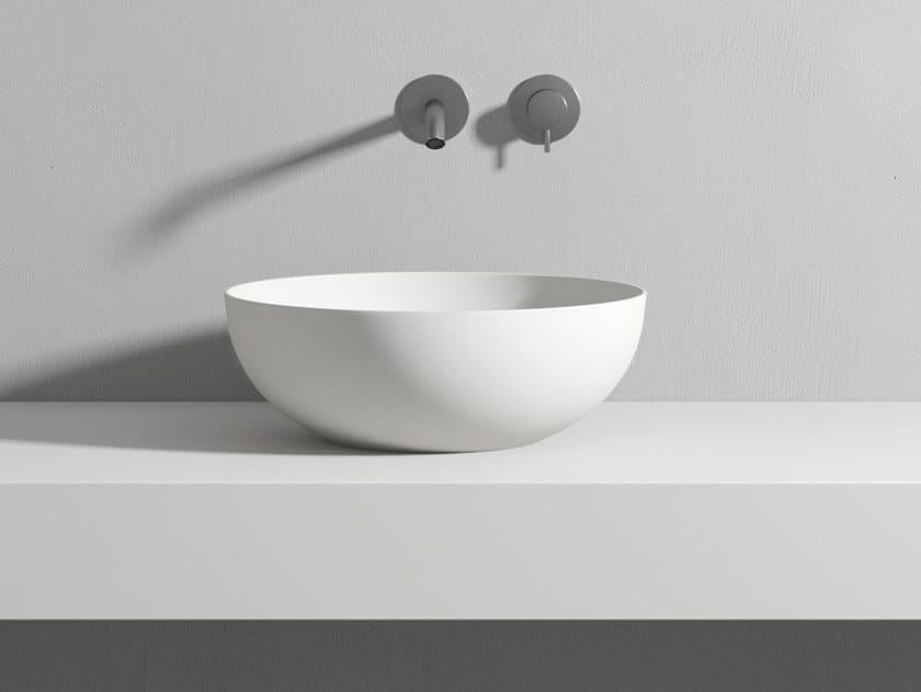 Lavabo in Korakril Blend in appoggio PAN by Rexa Design