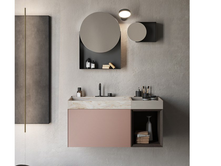 Mobile lavabo sospeso COMPACT LIVING - SET 5 by Rexa Design