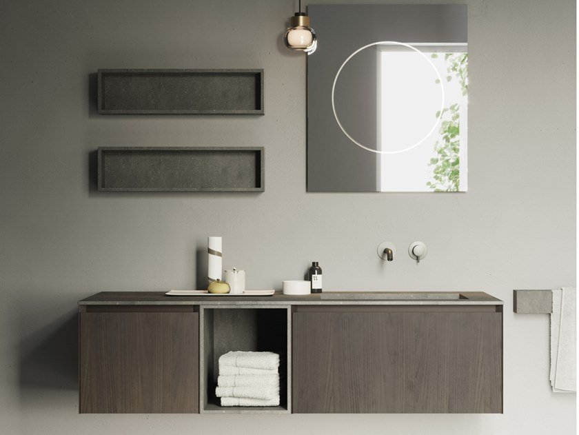 Mobile lavabo sospeso COMPACT LIVING - SET 8 by Rexa Design