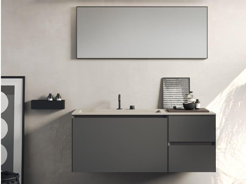 Mobile lavabo sospeso COMPACT LIVING - SET 9 by Rexa Design