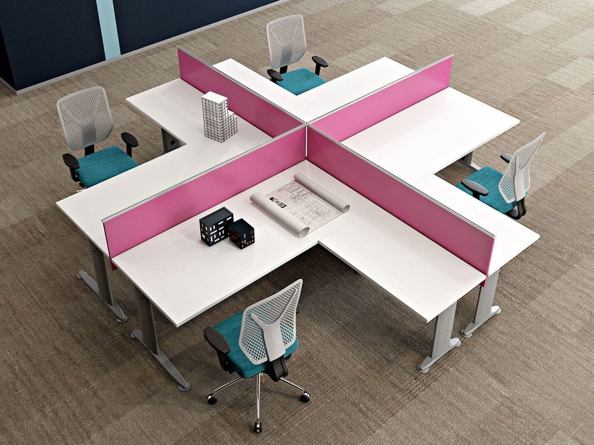 Postazioni Ufficio Open Space : Multiple office workstation for open space kinesis kc4 kinesis