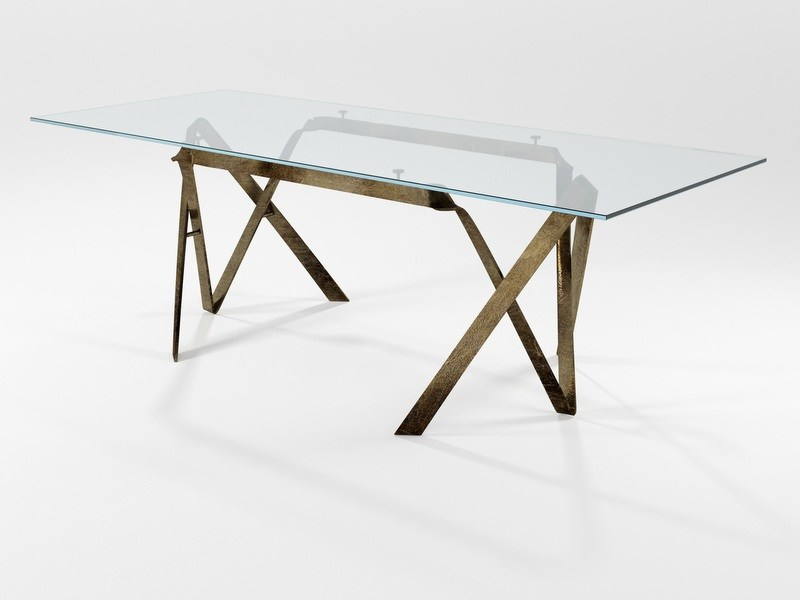 Rectangular crystal dining table COMPASSO   Dining table by Barel