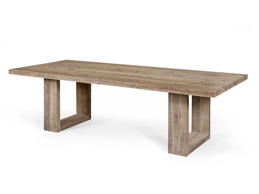 Rectangular oak dining table COMPLICE by CABUY D.