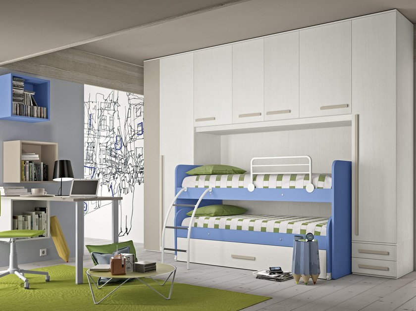 Bedroom set with bridge wardrobe COMPOSITION 19 by Mottes Mobili