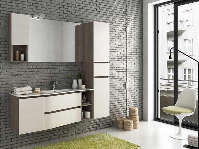 Mobile lavabo laccato sospeso COMPONIBILE 10 by LEGNOBAGNO