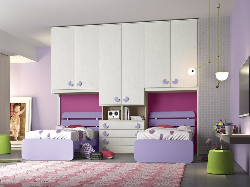 Bedroom set with bridge wardrobe COMPOSITION 11 by Mottes Mobili