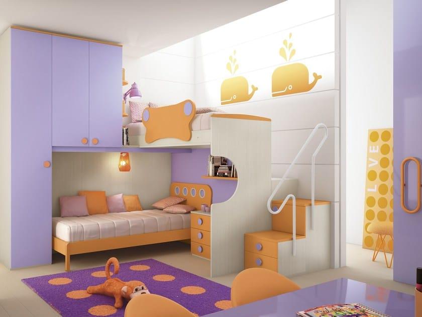 Loft bedroom set COMPOSITION 24 by Mottes Mobili