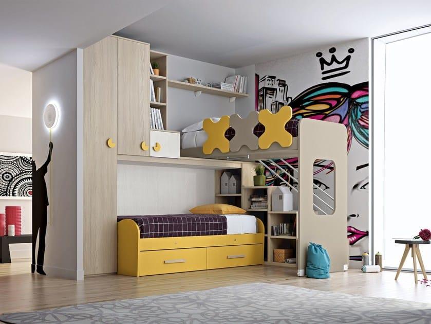 Loft bedroom set COMPOSITION 25 by Mottes Mobili