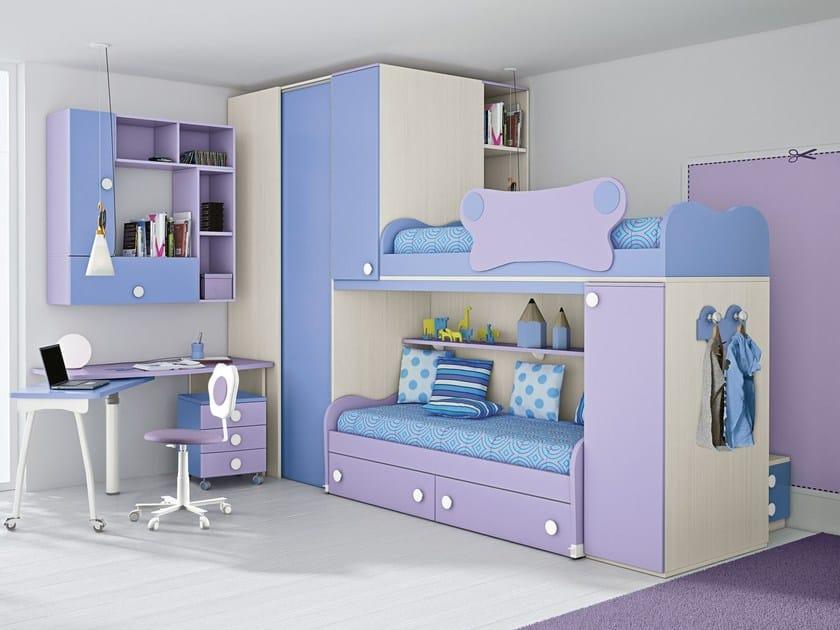 Loft bedroom set COMPOSITION 34 by Mottes Mobili