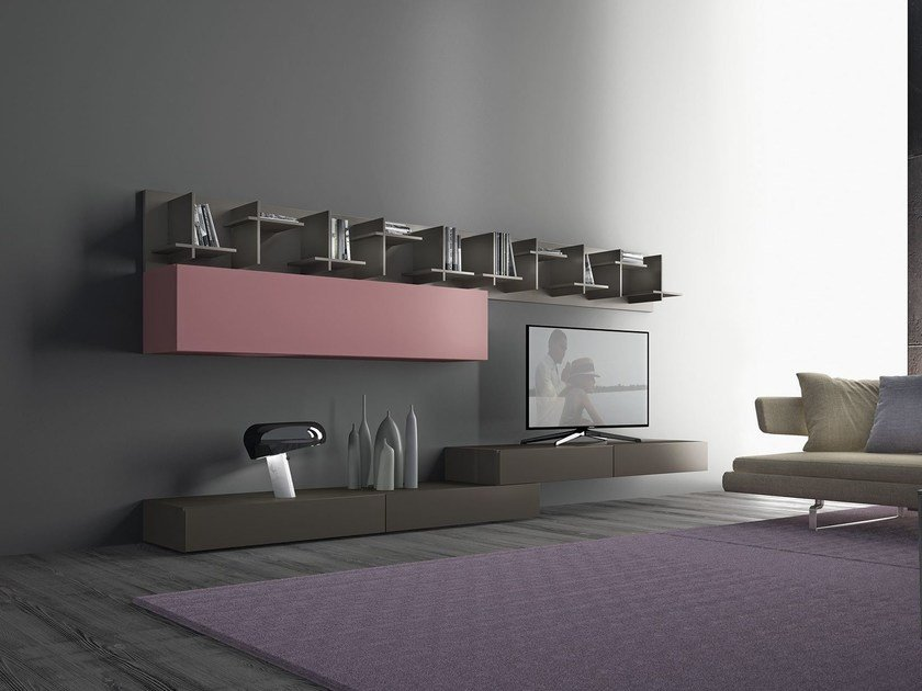 Sectional wooden storage wall I-modulART_20 - 320 by Presotto