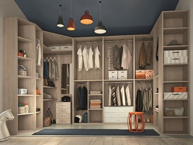 Walk-in wardrobe COMPOSITION 46 by Mottes Mobili
