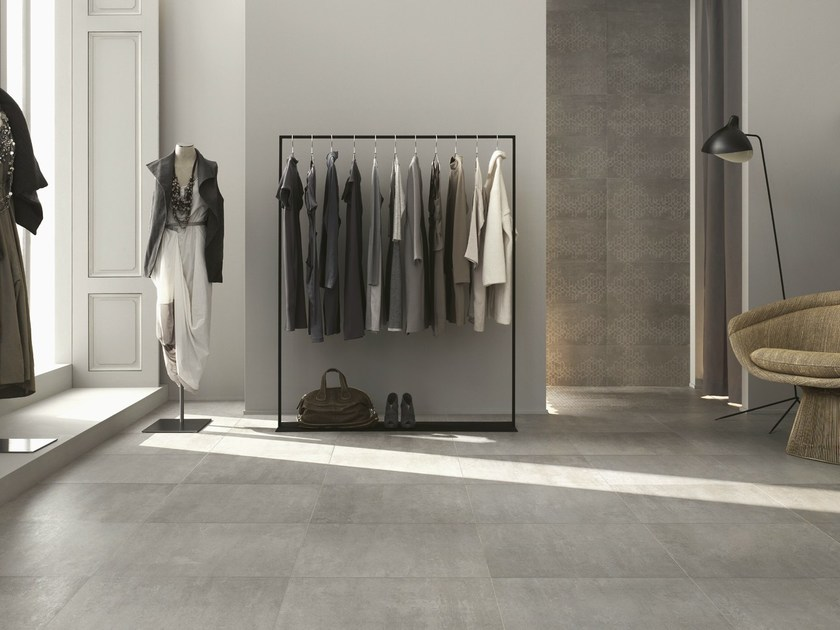 Porcelain stoneware flooring with concrete effect CONCEPT | Flooring by Ragno