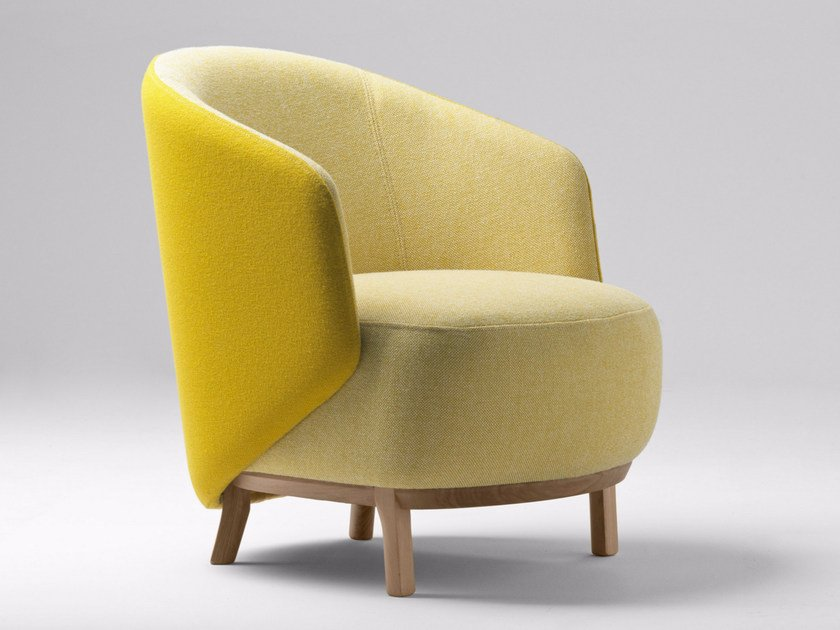 Upholstered metal armchair with armrests CONCHA | Armchair by Bosc