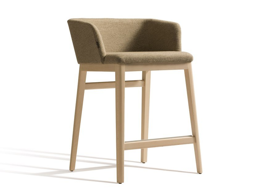 High fabric stool with armrests CONCORD 521BM65 by Capdell