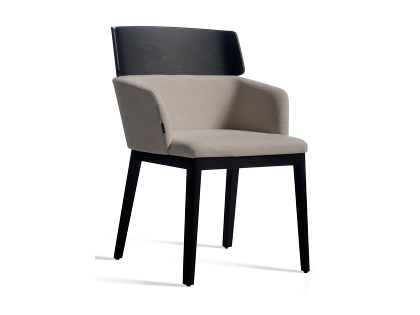 Upholstered fabric chair with armrests CONCORD 523WM by Capdell