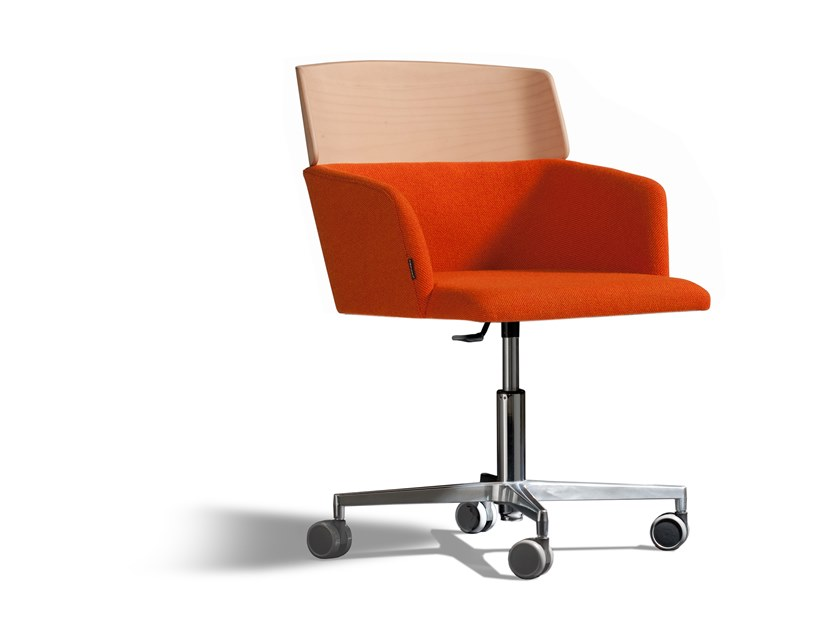 Swivel task chair with armrests CONCORD 523WRA4 by Capdell