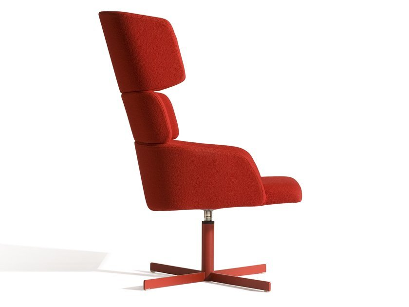 High-back fabric armchair CONCORD 527UC by Capdell