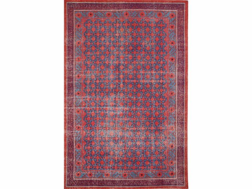 Handmade wool rug CONCORD PKWL-5106 Velvet Red/Ink Blue by Jaipur Rugs